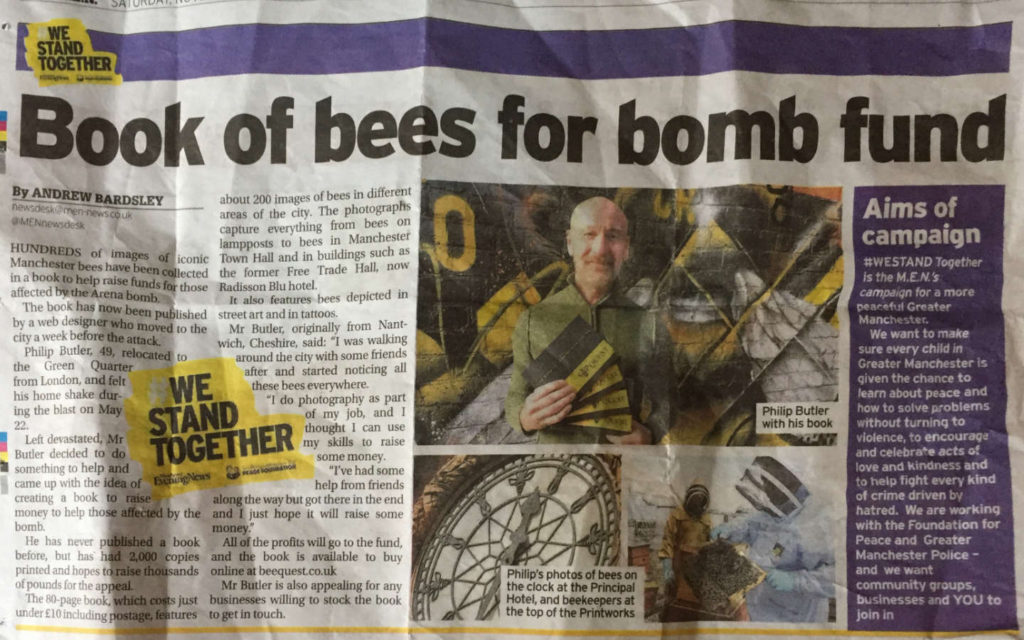 manchester evening news beequest philip butler freelance web developer