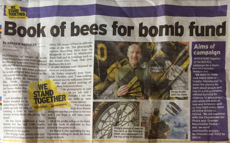 manchester evening news beequest philip butler freelance web developer