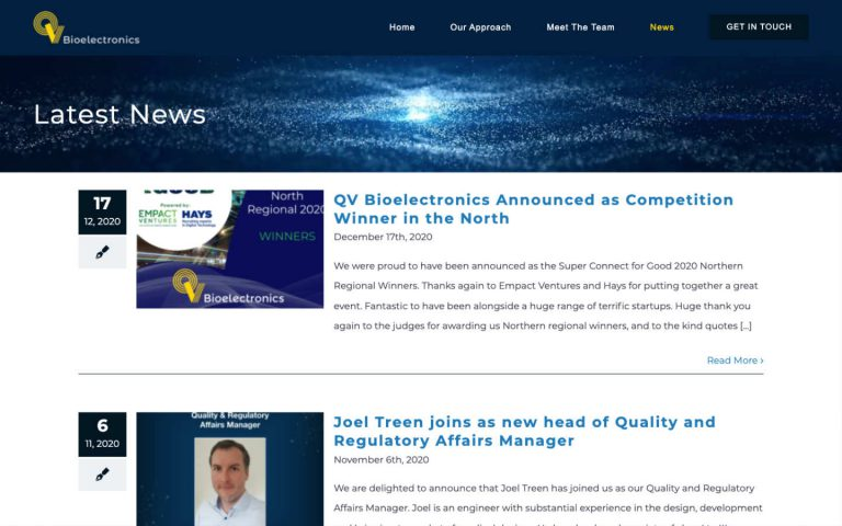 qvbioelectronics by philip butler freelance website developer manchester - qvbiotech