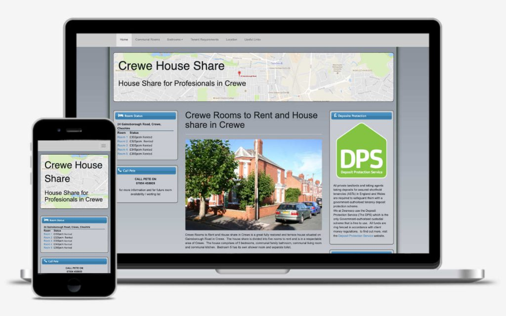 manchester website designer - house rental website development