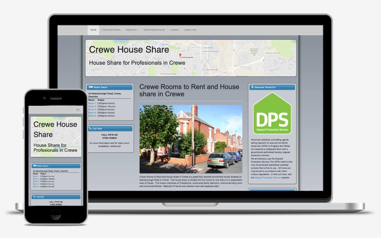 manchester website designer - house rental website development