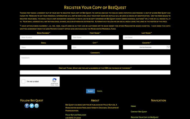 manchester website developer portfolio - beequest4