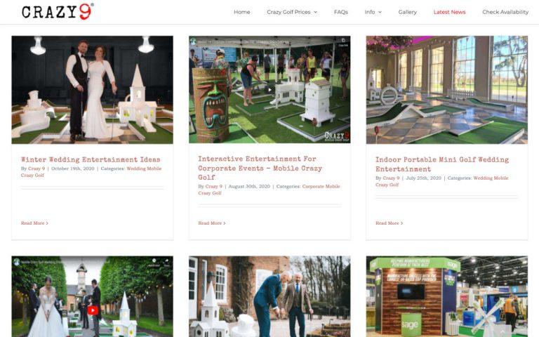 manchester website developer portfolio - crazy9 blog