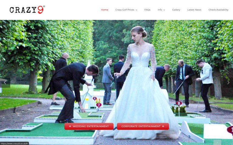 manchester website developer portfolio - crazy9 homepage