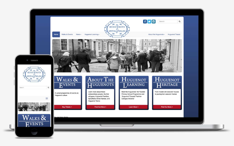 manchester website developer portfolio - huguenots of spitalfields