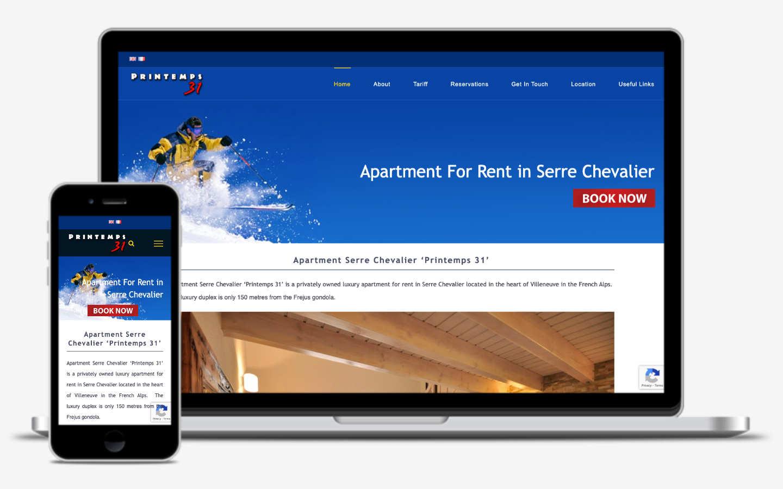 manchester website developer portfolio - ski apartment for rent serre chevalier