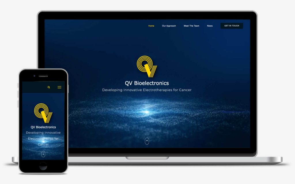 qvbioelectronics by philip butler freelance website developer manchester